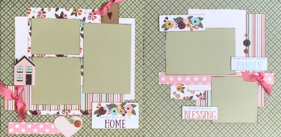 Having a Place to Go is Home, Having Someone to Love is Family....2 Page Scrapbooking Layout Kit or Premade Scrapbooking Pages