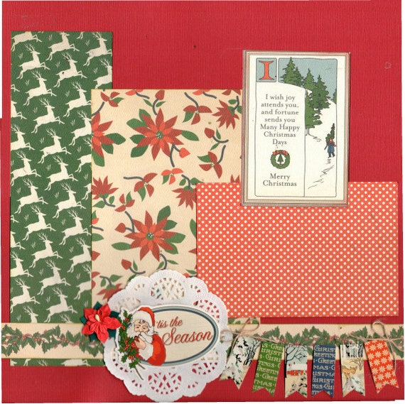 Tis the Season, 2 Page Scrapbooking Layout Kit