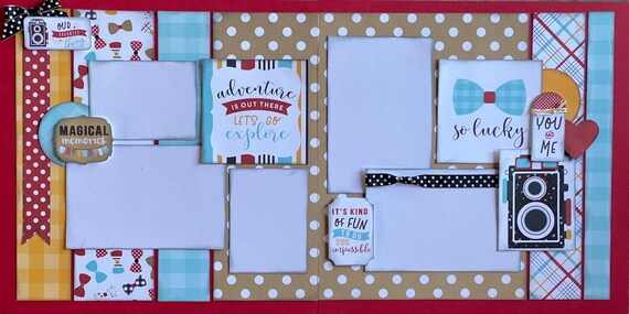 Magical Memories - Our Favorite Thing - Disney Inspired 2 page Scrapbooking layout Kit or Premade Scrapbooking Pages