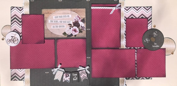 Keep Your Eyes on the Stars and Your Feet on the Ground   2 Page Scrapbooking Layout Kit or Premade Scrapbooking Pages