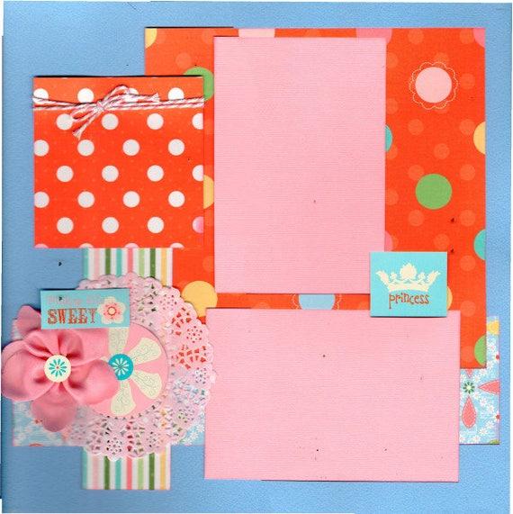 Making Life Sweet / Princess 2 Page Scrapbooking Layout Kit
