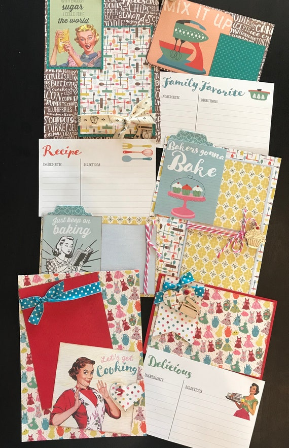 Lets Get Cooking  January - 3 - 2 Page Scrapbooking Layout Kits