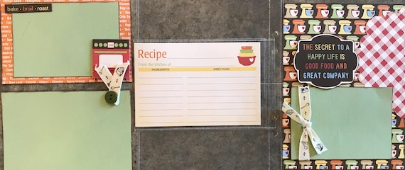 Lets Get Cooking  July- 3 - 2 Page Scrapbooking Layout Kits