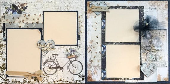 Perfect Together -Love is in the Air 2 Page Scrapbooking Layout Kit or Premade Scrapbooking Pages