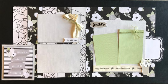 You are My Today and all of my Tomorrows - Anniversary 2 Page Scrapbooking Layout Kit