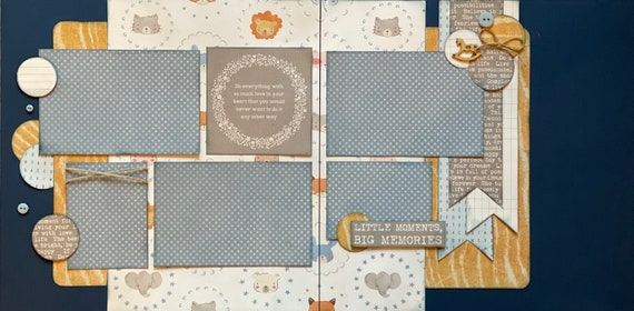 Do Everything with so Much Love in Your Heart that you wouldn't want to do it Any Other Way 2 page Scrapbooking Layout Kit or Pre Made Pages