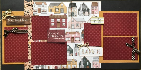 Home Sweet Home - I've Got Sunshine On My Mind 2 Page Scrapbooking Layout Kit or Premade Scrapbooking Pages