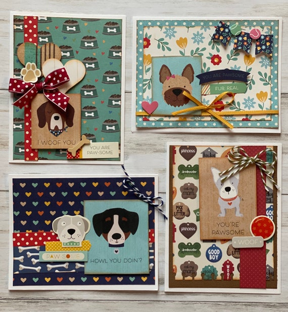 Dog/Puppy Themed Card Kit- 4 pack