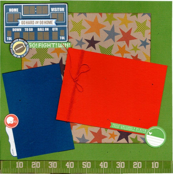 Go! Fight! Win!  Football - No one ever gave their best and regretted it, 2 Page Scrapbooking Layout Kit