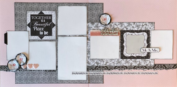 Together is a Beautiful Place to Be - Celebrating Togetherness 2 Page Scrapbooking Layout Kit or Premade Scrapbooking Pages