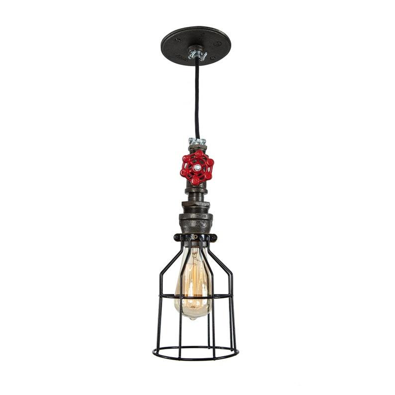 Vintage Industrial Ceiling Light Chandelier Steampunk Pendant Lamp Cage Fixture