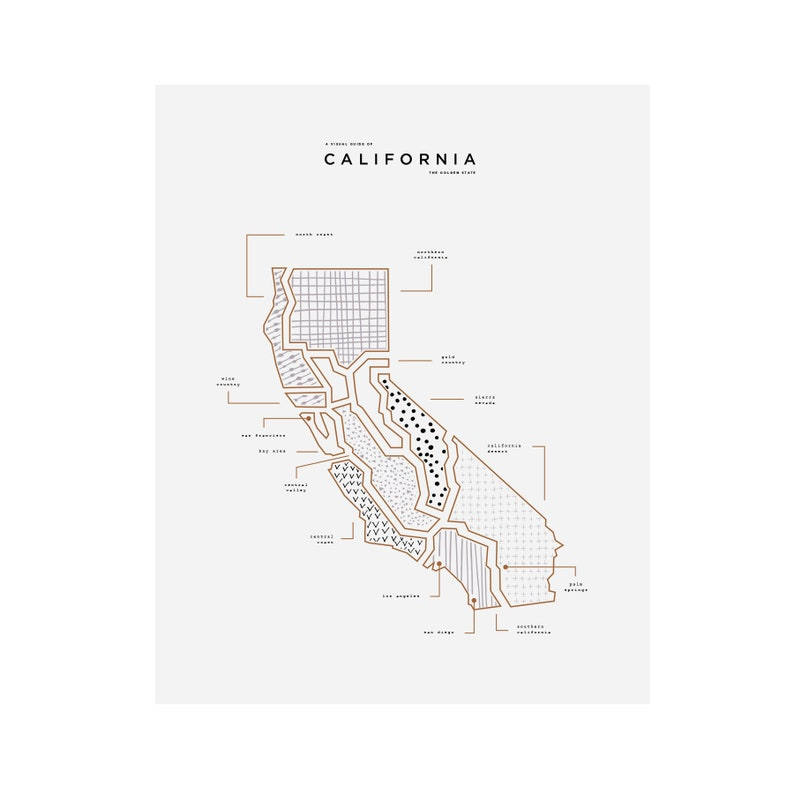 photo about California State Map Printable known as California Place Map Print