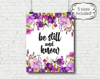 be still printable, be still print, be still wall art, be still, Bible verse printable, Bible verse print, Bible verse art, be still art
