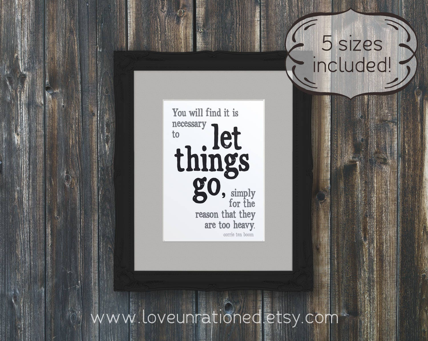 Printable Quote Let Things Go Printable Inspirational Etsy