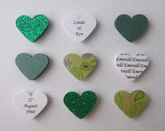 Handmade personalised Emerald Wedding Anniversary card - 55th 55