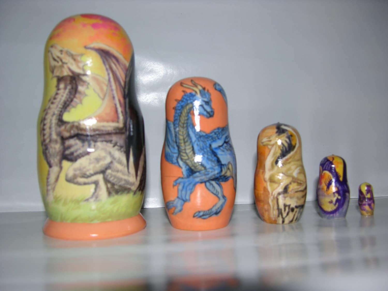 Dragons nesting doll   Etsy