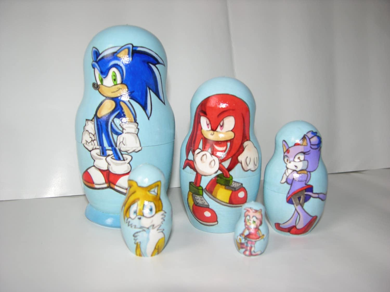 Sonic the Hedgehog nesting doll   Etsy