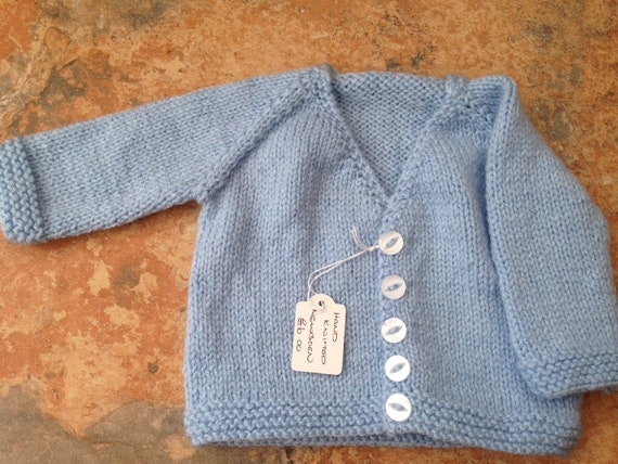 HAND KNIT NEWBORN BABY CARDIGANS VARIOUS COLOURS NEW