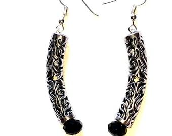 Metal Tube Earrings