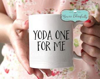 Star Wars Valentine Mug,Yoda Mug, Personalised Star Wars Movie Gift, Yoda One for Me, Anniversary Gift, Husband Mug, Boyfriend Mug,