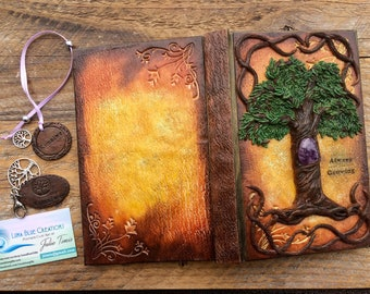 Personalized Tree of Life Journal, Healing Stone Journal, Crystal Journal, Customized Notebook, Sketchbook