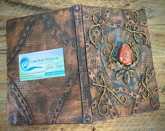 Personalized Red Jasper Bullet Journal, Dot Grid Bullet Journal, Personalized Diary,  Customized Bullet Journal, Polymer Clay Journal