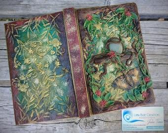 Personalized Journal, Custom Journal, Polymer Clay Journal, Personalized Sketchbook, Aventurine Journal, Polymer Clay Art, Healing stone