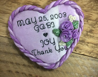 Set of Personalized Magnet Wedding Favors, Custom Magnet Favors, Thank You Magnet Favors, wedding favours, Polymer Clay Wedding Favors