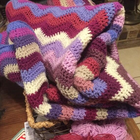 Welligkeit afghanischen Decke Decke bunt Gehäkelte Decke / | Etsy