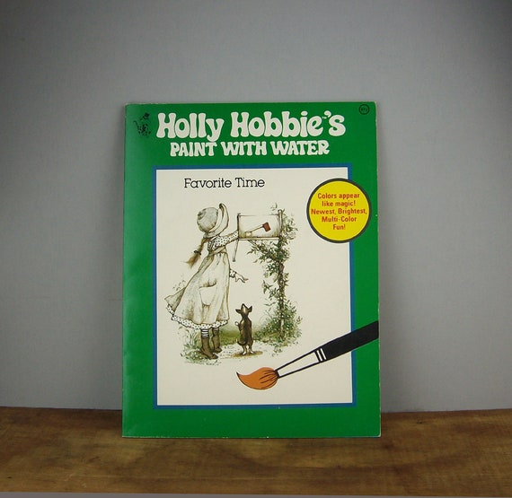 Vintage Holly Hobbie Paint with Water Coloring Book, 1970s