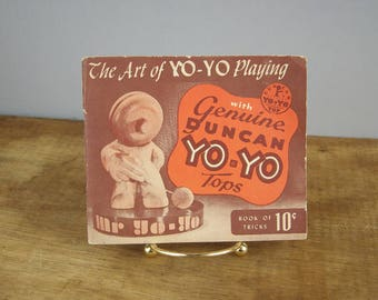 Vintage 1950 Duncan Yo-Yo Tricks Illustrated Book, Yoyo Toys