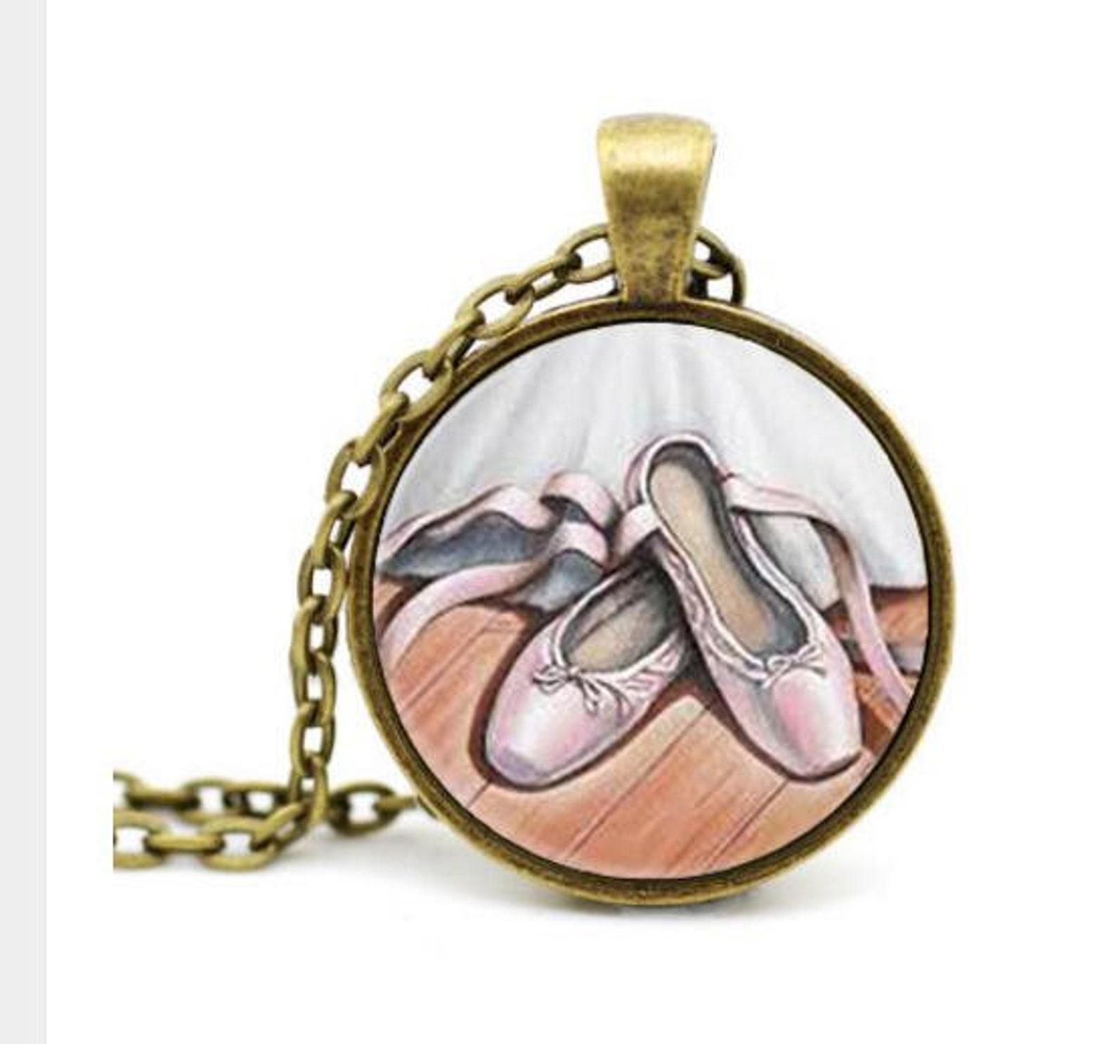 ballet necklace - ballet shoes necklace - ballet jewelry - ballet pendant - ballerina shoes necklace - ballerina shoes pendant