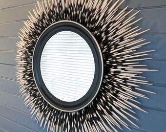 SC1257 2 Hedgehog Charms Antique Silver Tone Large 3D Porcupine Charms