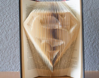 Folded Book Art- Book Lovers-Superman-Home Decor