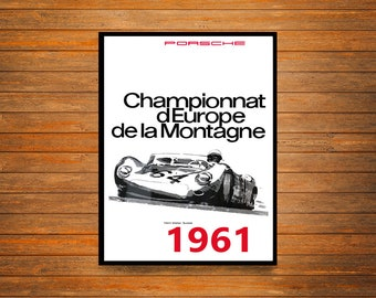 Reprint of a Vintage French 1961 Motor Racing Poster