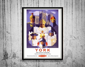 Reprint of a Vintage British Railway to York Poster