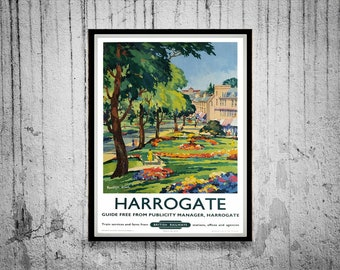 Reprint of a Vintage British Railway Poster to Harrogate
