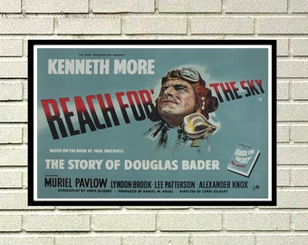 Reprint of a Vintage British War Movie Poster - Reach for the Sky