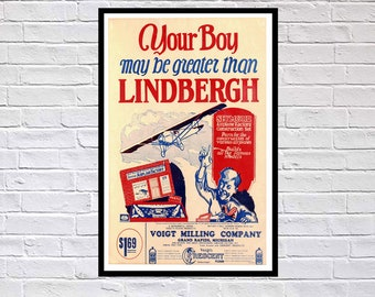 Reprint of a 1920s Voigt Model Aircraft Poster