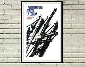 Reprint of a Vintage Japanese Movie Poster - Uprising Against the Sword