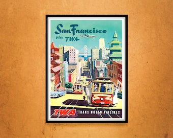 Reprint of a Vintage Travel Poster to San Francisco