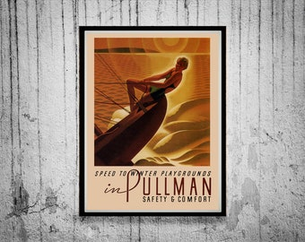 Reprint of a Vintage Pullman Railway Poster