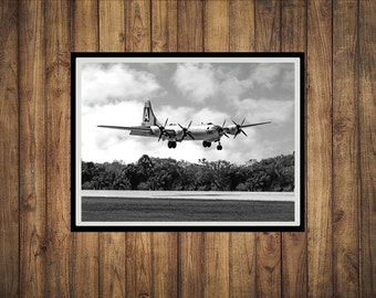 Black &White photograph of a B-29 Superfortress bomber.