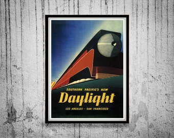 Reprint of a Vintage Southern Pacific Railroad Poster