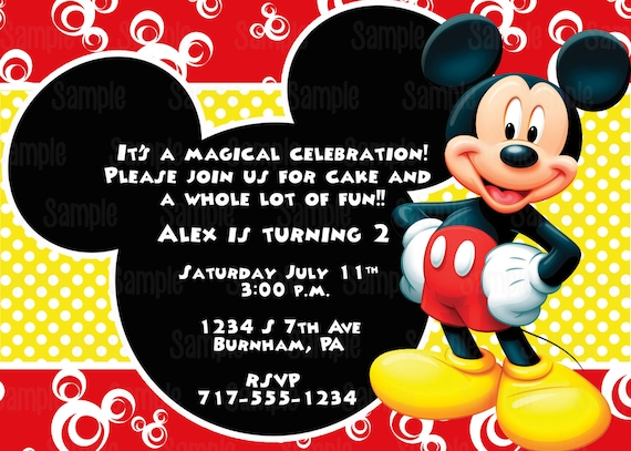 Shocking image inside printable mickey mouse invitations