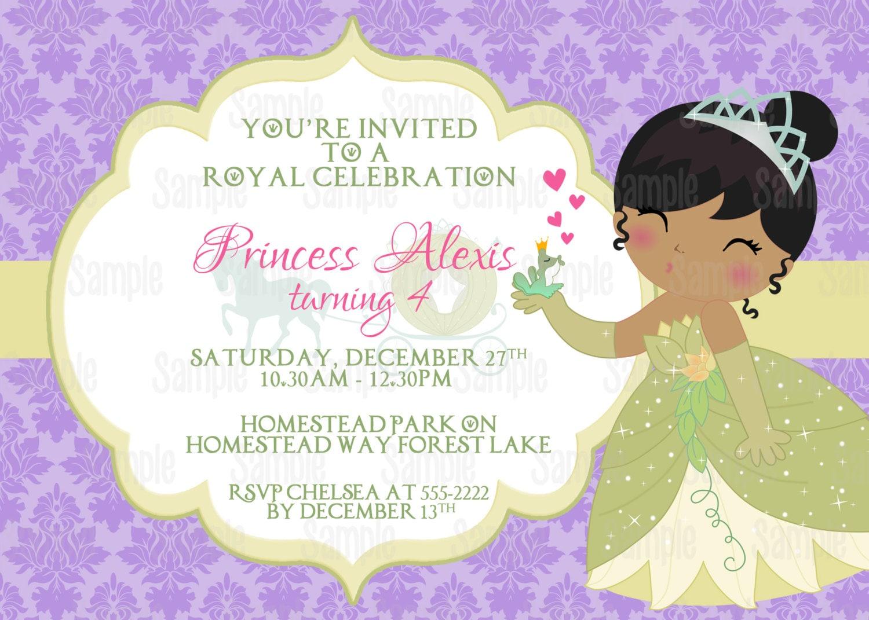 La princesa y el sapo Tiana para imprimir cumpleaños partido   Etsy