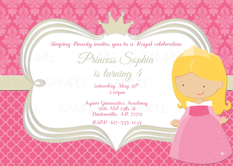 Printable Sleeping Beauty Princess Aurora Birthday Party   Etsy