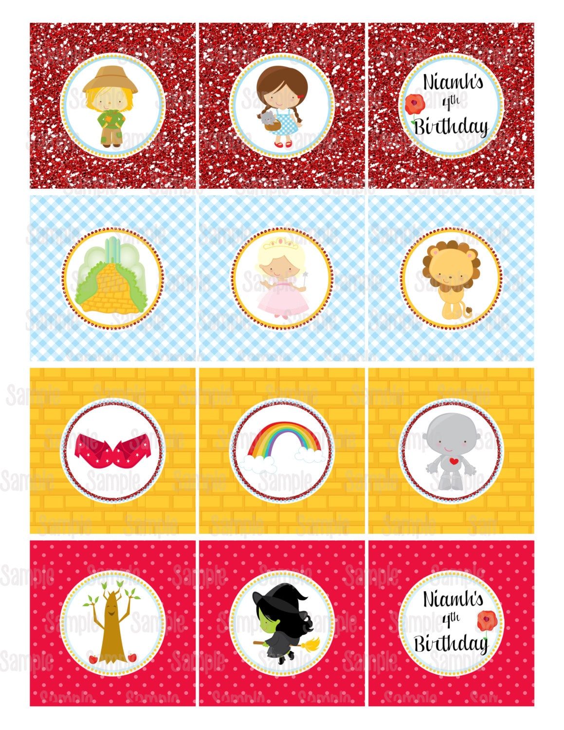 Printable The Wizard Of Oz Cupcake Toppers | Etsy