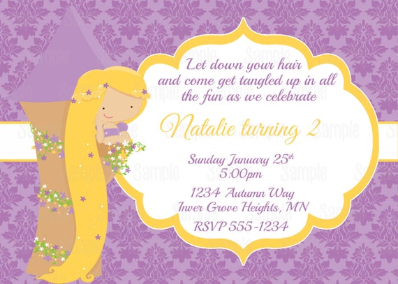 Printable princess rapunzel birthday party invitation by party il570xn filmwisefo