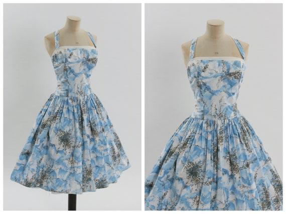 Vintage 1950s original Horrockses fashions floral